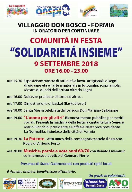 """L'A.I.L.U. a """"Solidarietà Insieme"""" (Formia, 9 settembre 2018)"""