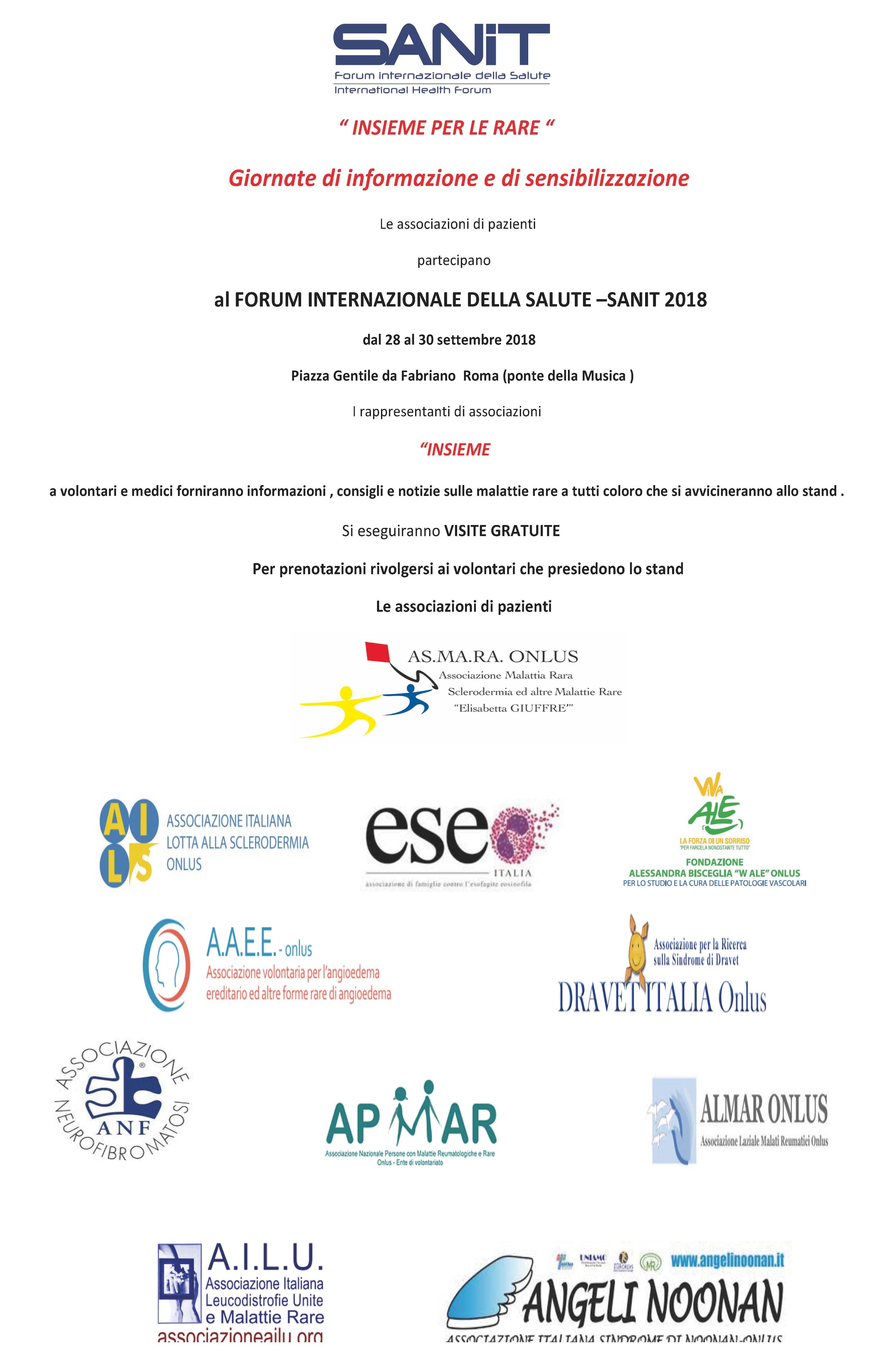 SANIT 2018 – Forum internazionale della salute a Roma